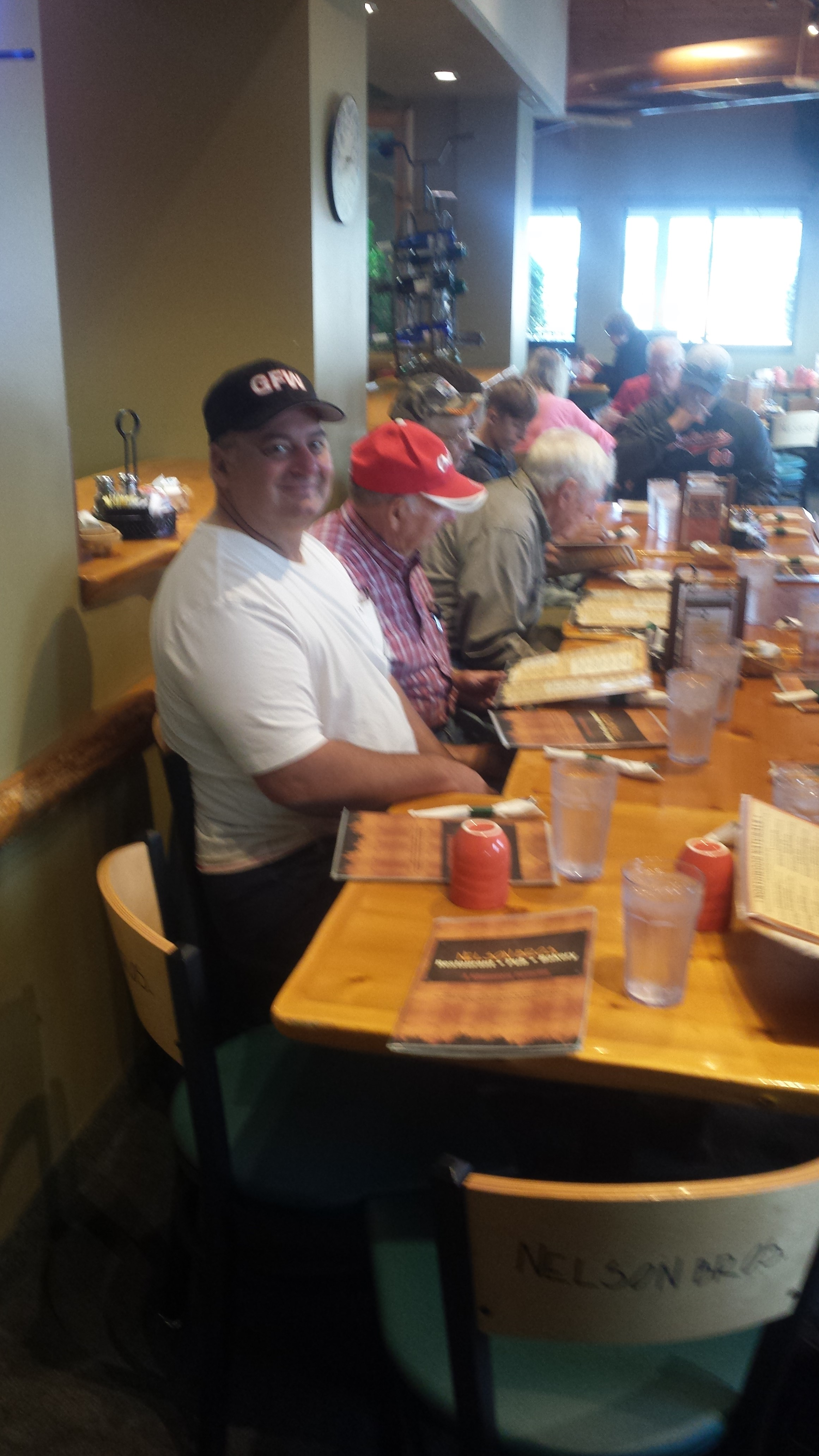 Veterans Eating Lunch Together After a Fishing Trip