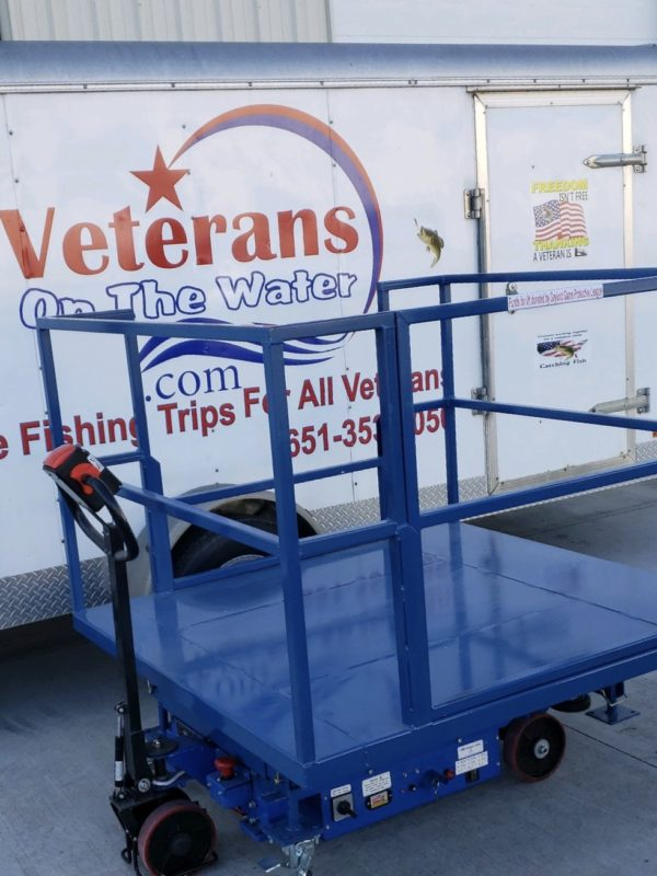 Wheelchair Accessible Lift for Veteran Fishing Trips